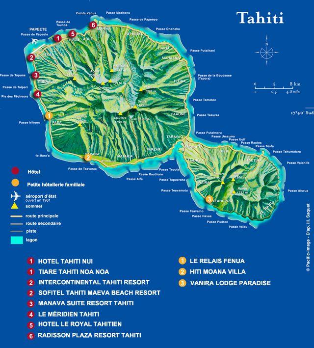 Таити на карте мира