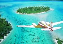 Трансфер на Бора-Бора - самолет Air Tahiti