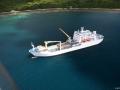 Грузовое судно на Бора-Бора
