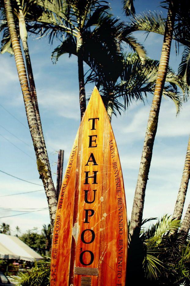 Серфинг на Теахупоо.